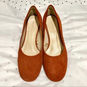 Zara orange block heel